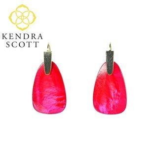 Kendra Scott RED PEARL Marty Drop Earrings